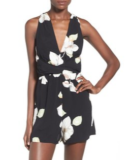 Nordstrom Leith floral crossover romper