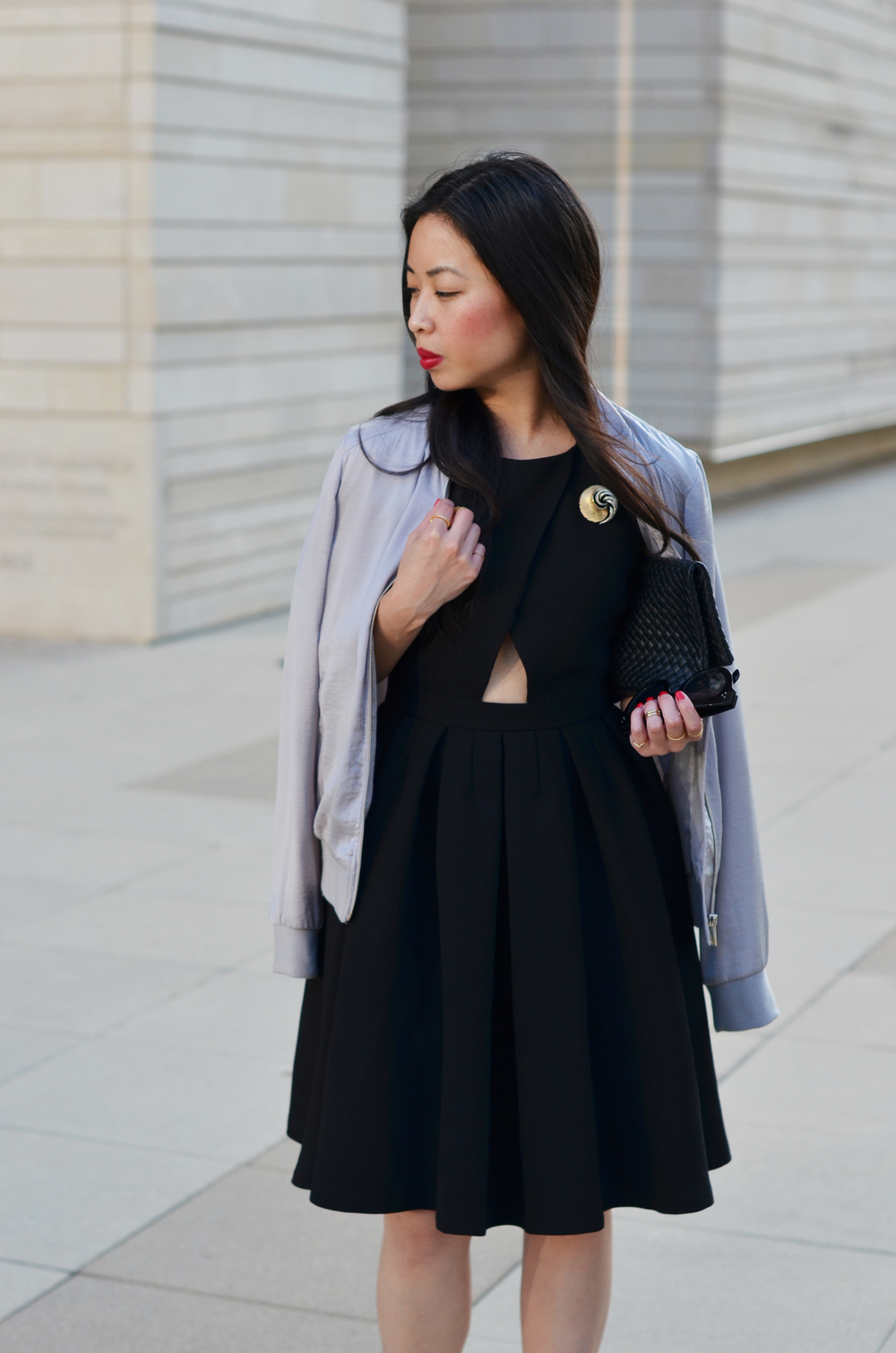 the LBD & bomber jacket -- jannadoan.com