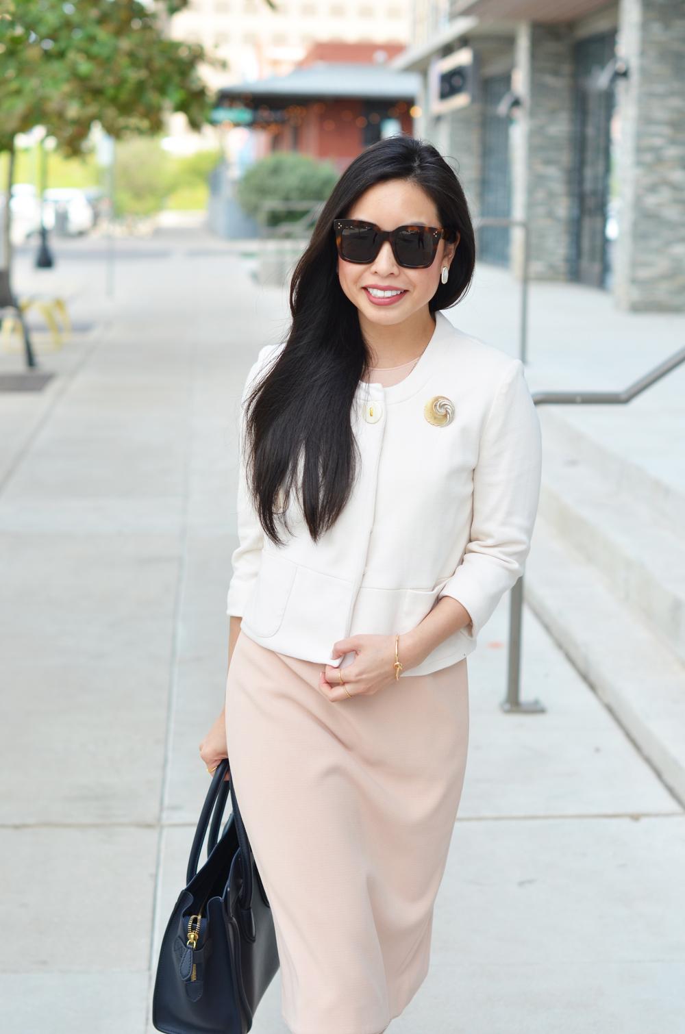 how to style a sheath dress -- jannadoan.com