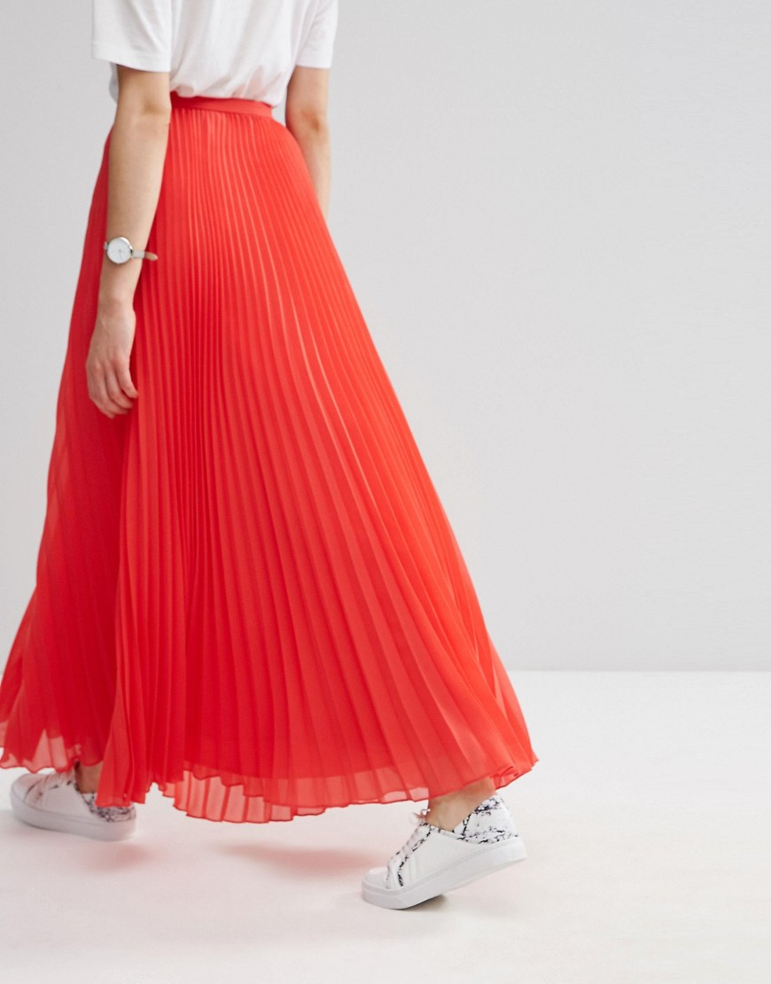 ASOS maxi pleated skirt