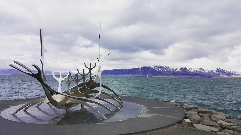 Viking ship model
