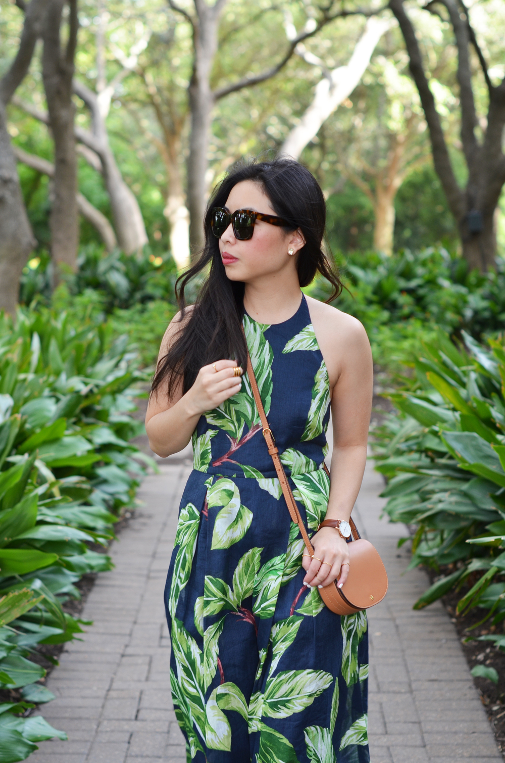 the leaf print halter dress -- jannadoan.com