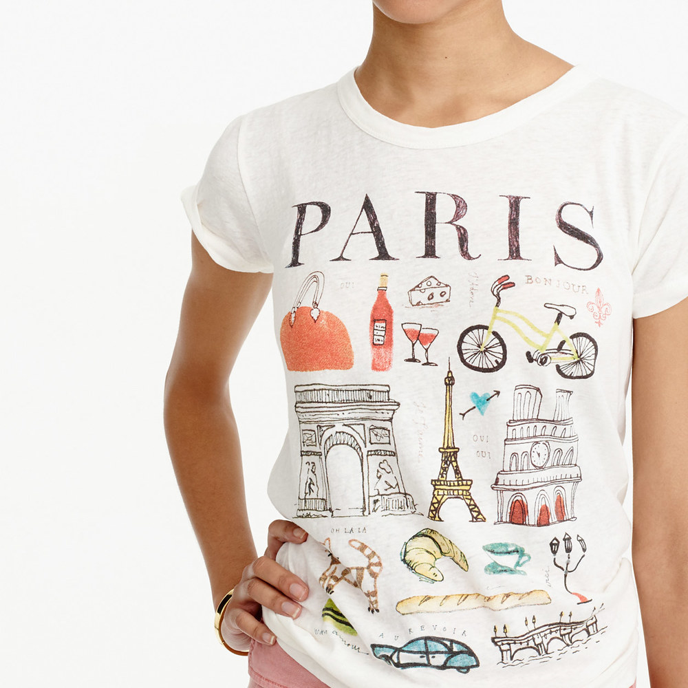 Jcrew paris destination art tshirt