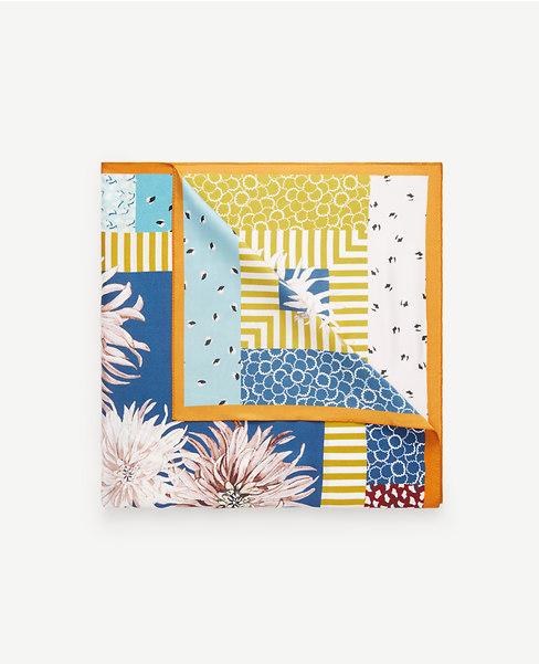Ann Taylor chrysanthemum silk scarf