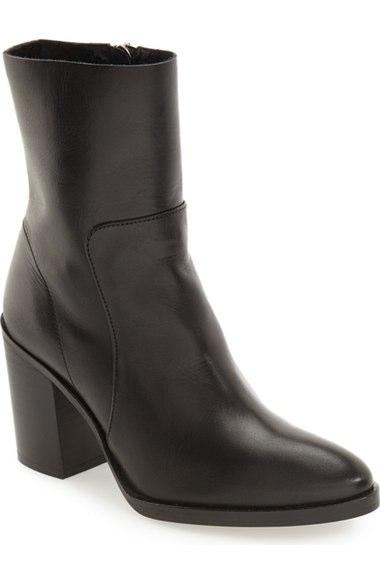 Topshop million pointy toe zip bootie in black