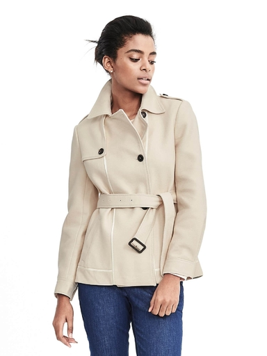 Banana Republic cropped trench