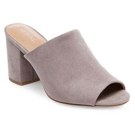 Merona didi mule pumps in grey suede