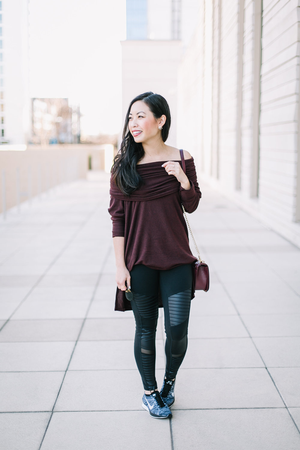 athleisure in a convertible tunic -- jannadoan.com