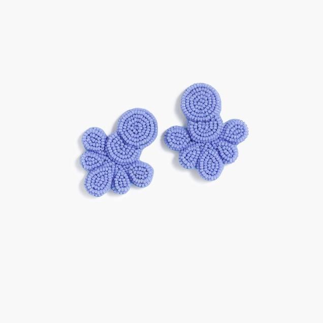 J.Crew beaded flutter earrings in bright peri