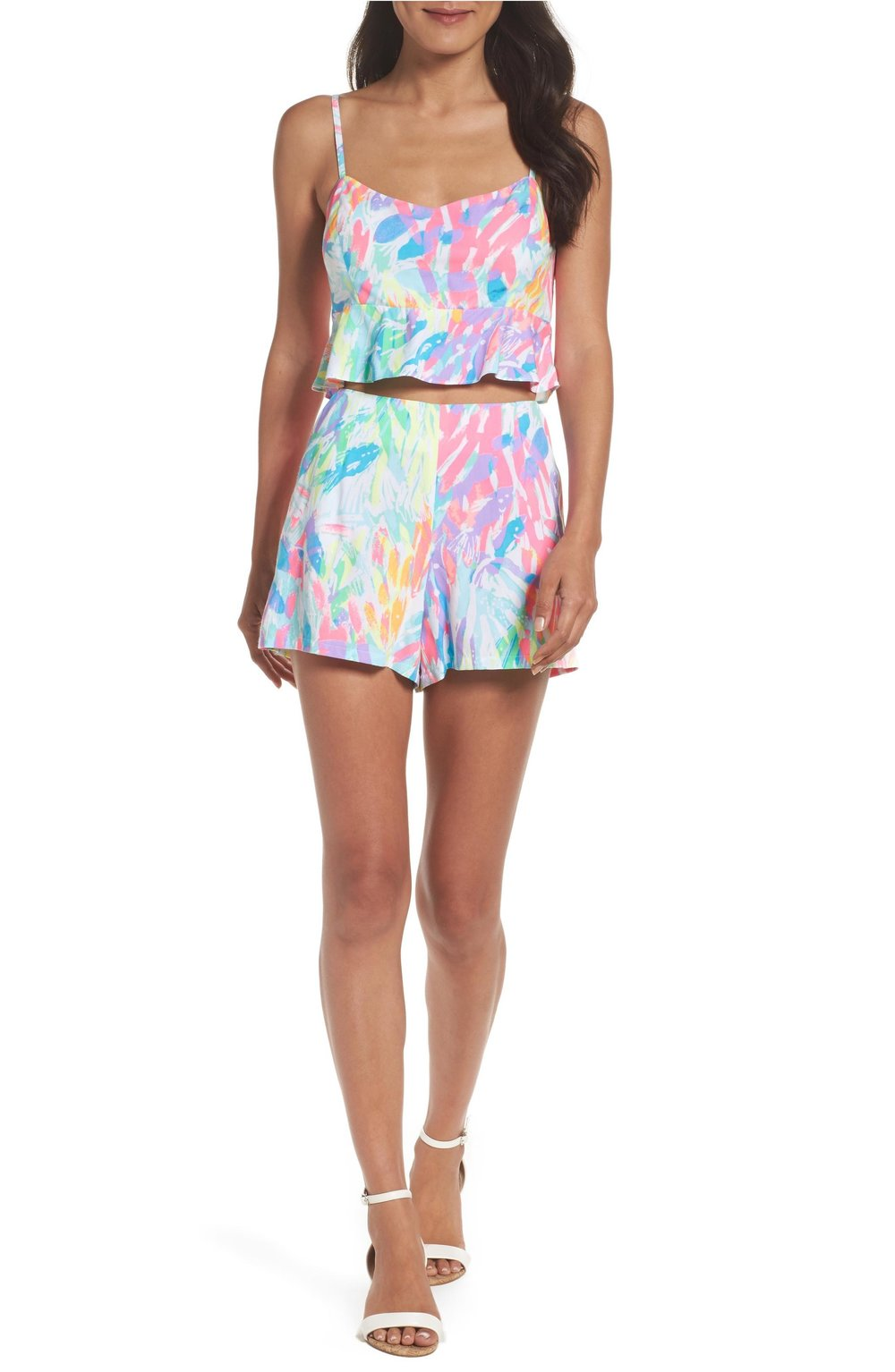 Lilly Pulitzer linnea crop top & short set in