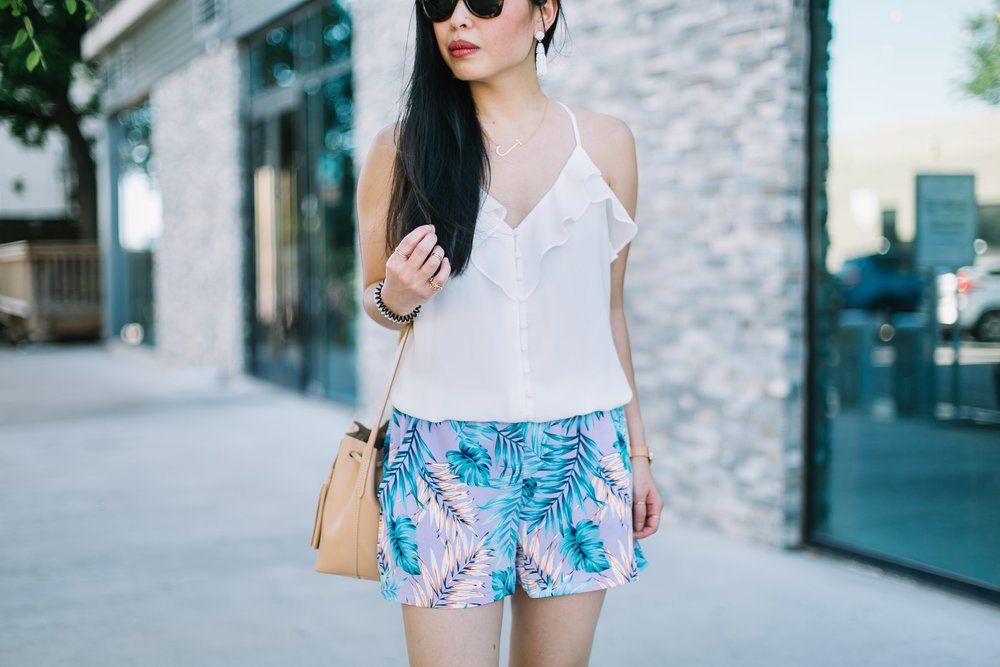 the ruffled cami & tropical shorts -- jannadoan.com