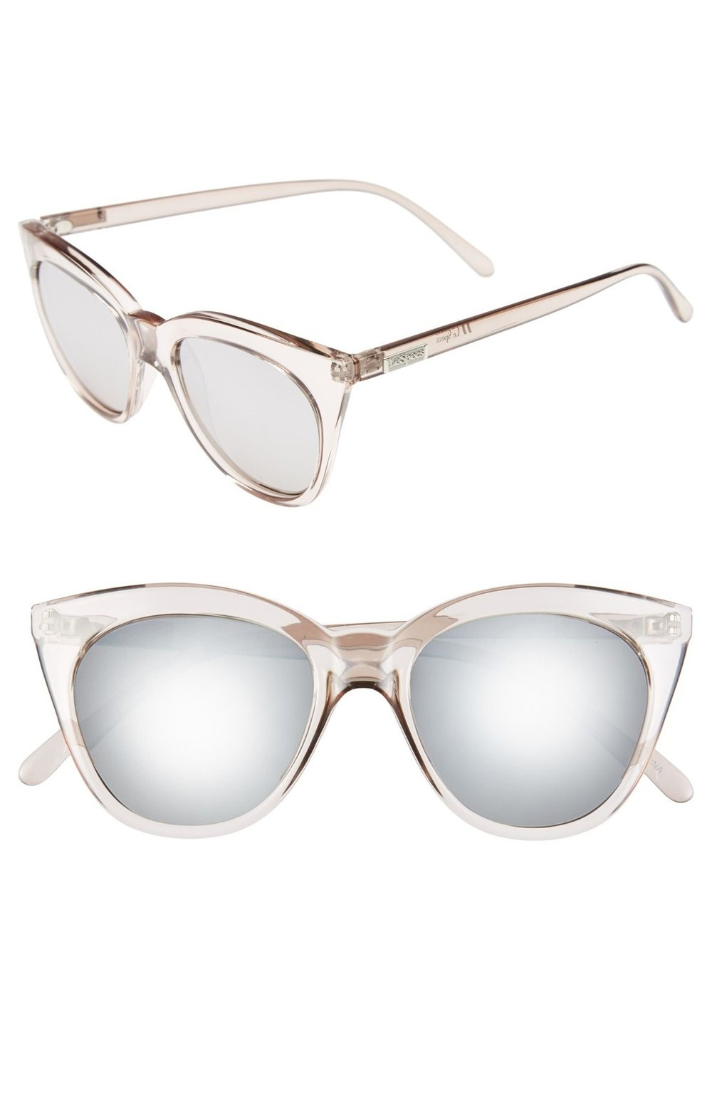 Le Specs halfmoon magic 51mm cat eye sunglasses in stone