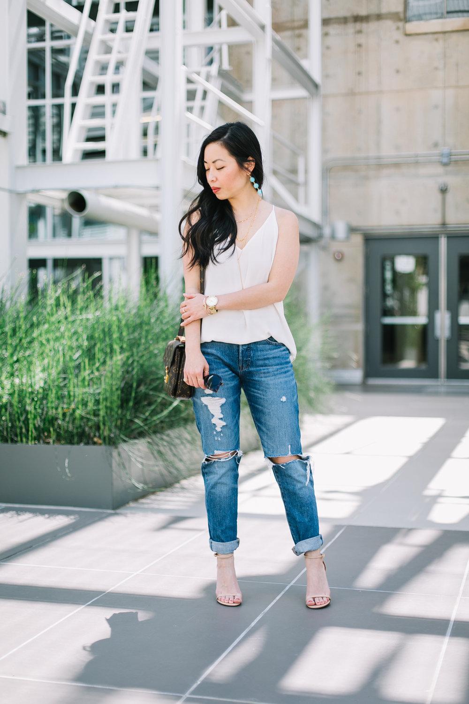 the boyfriend jeans & cami -- jannadoan.com
