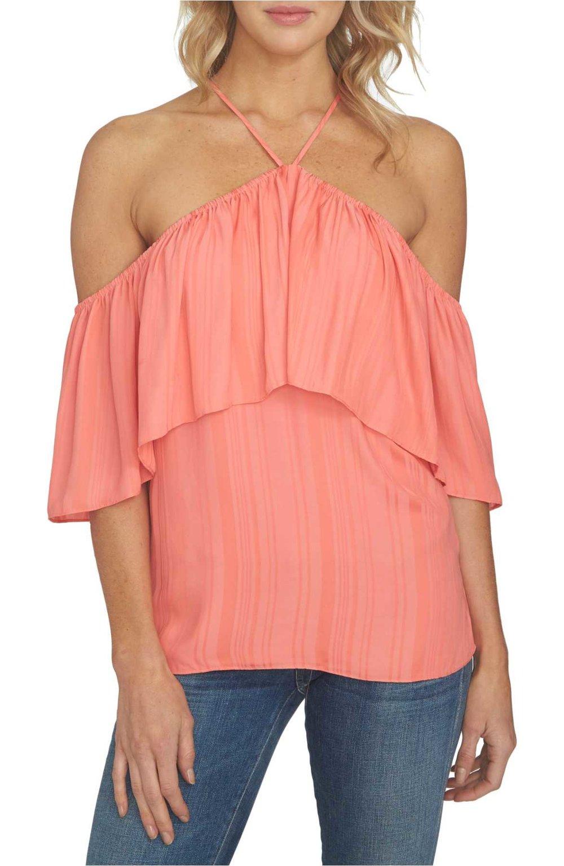 Nordstrom 1.SLATE halter neck ruffle blouse