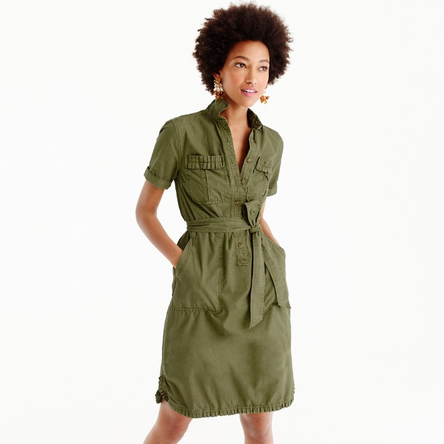 J.Crew ruffle hem utility dress