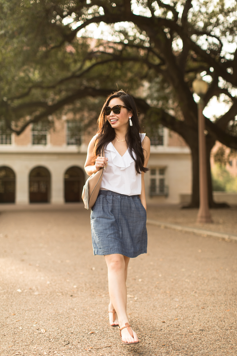 the chambray skirt -- jannadoan.com