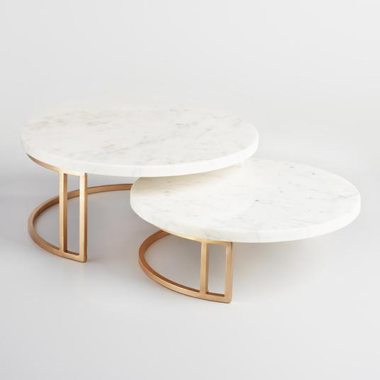 World Market gold & marble pedestals