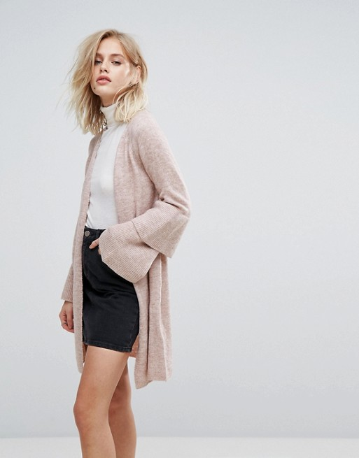 Only ruffle hem sleeve cardigan