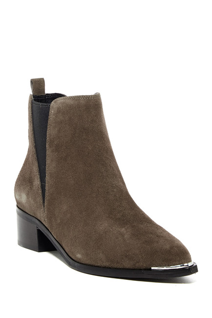 Marc Fisher yale pointed toe booties in gray suede