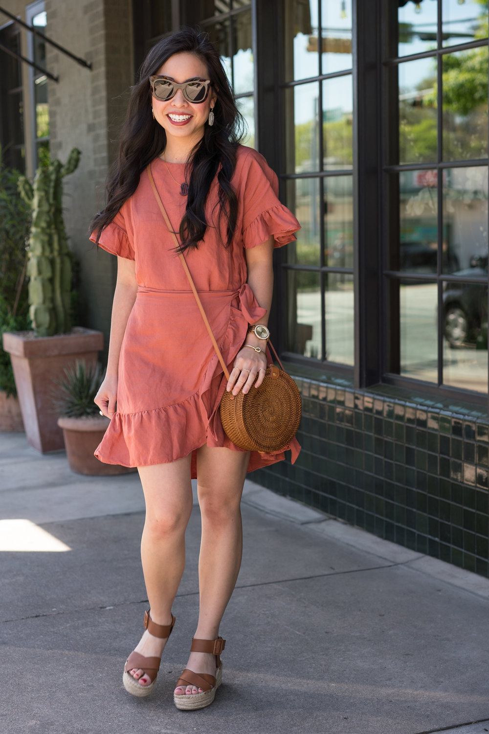 the ruffle wrap dress -- jannadoan.com