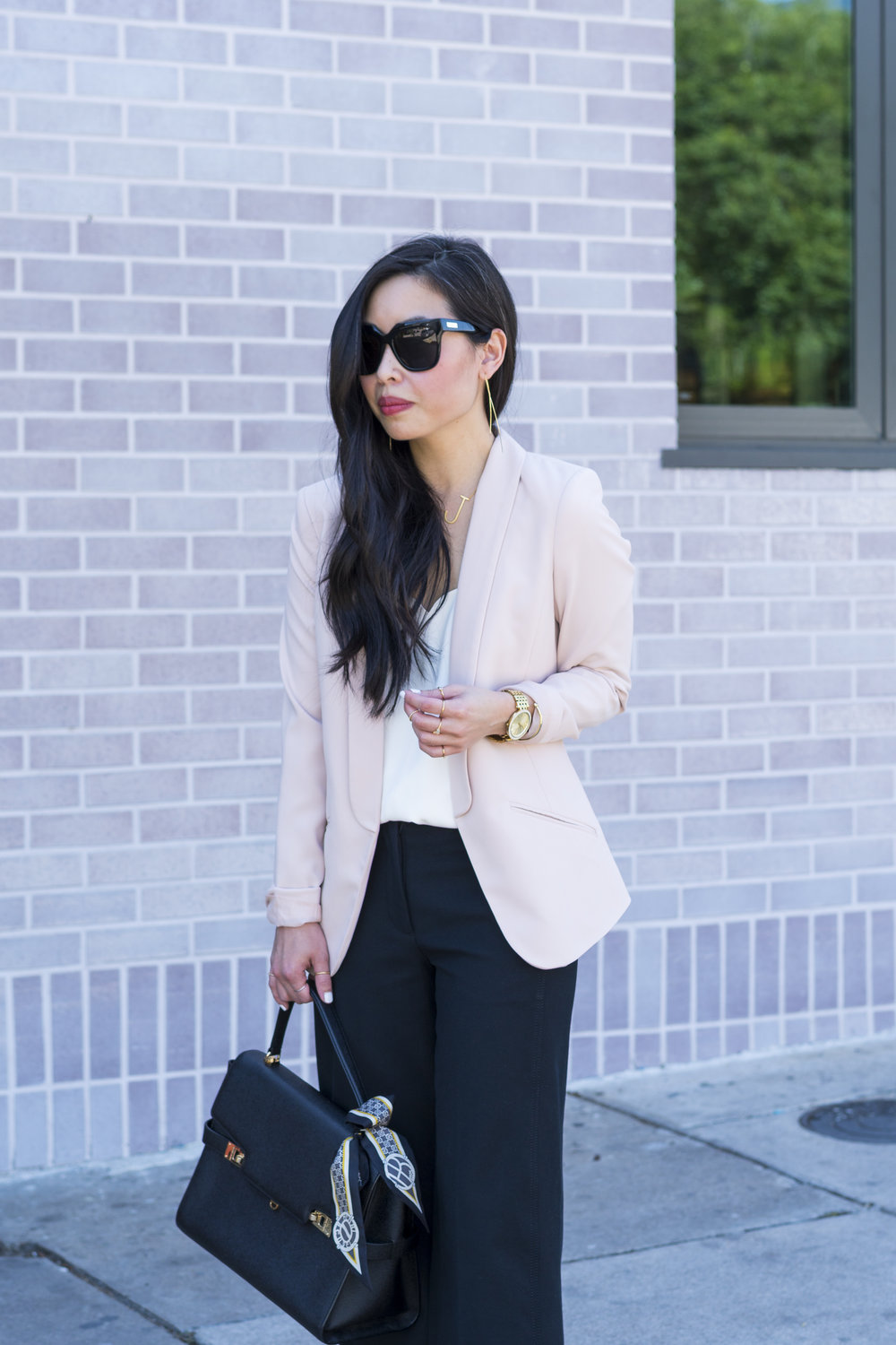 style it 9-5 by puting on a blazer to make it work appropriate
