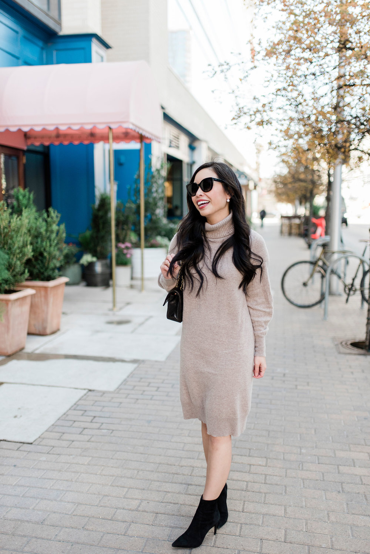 the cashmere turtleneck dress -- jannadoan.com
