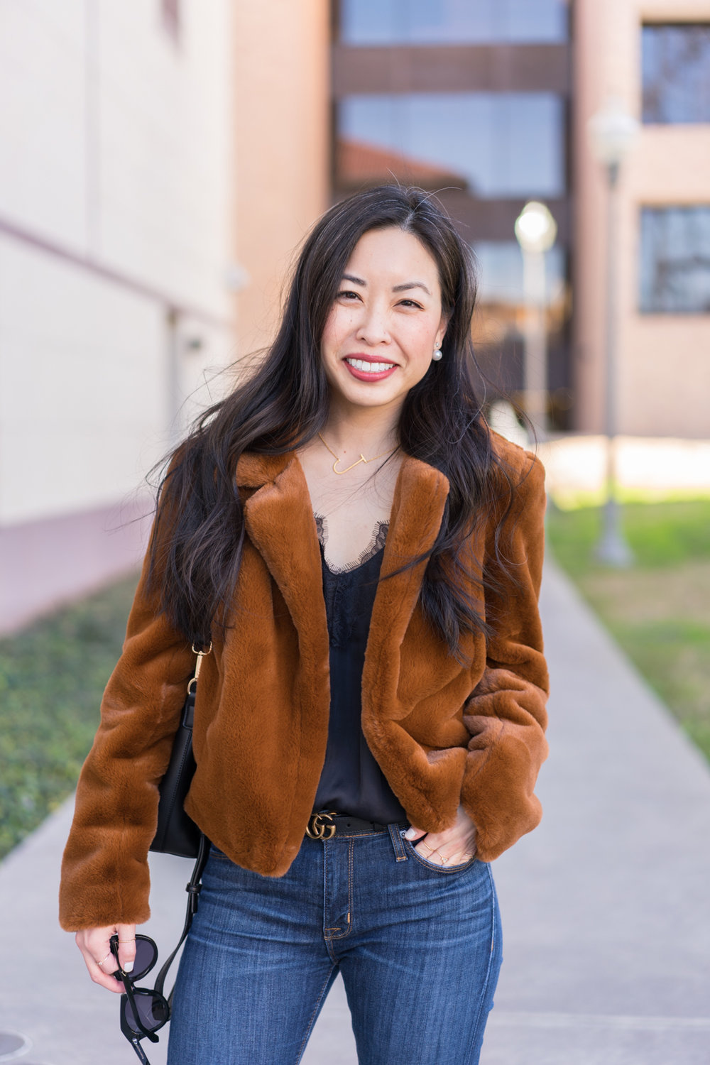 the cropped faux fur jacket -- jannadoan.com