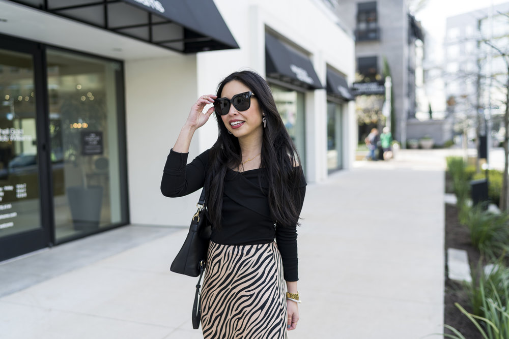 the zebra print skirt -- jannadoan.com