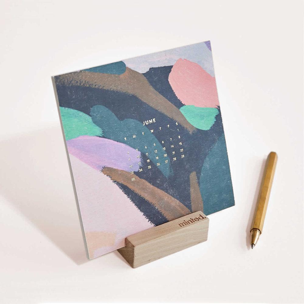 free foil pressed desk calendar f/minted