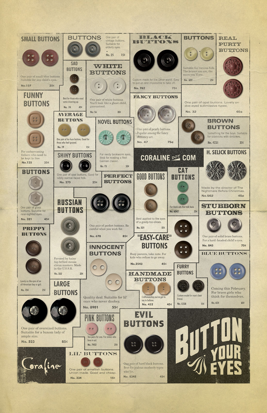 button catalog poster