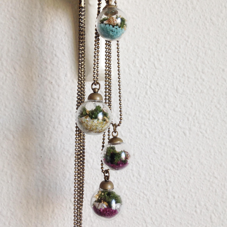 sphere terrarium necklace pic 2