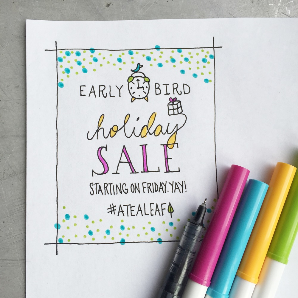 Early Bird Holiday Sale | Starting on Friday!