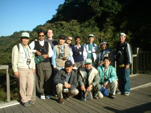 Prof Chan and other participants tigether with Japanese pensioners who manage the Yamada Green Zone (YGZ), a local community Park.