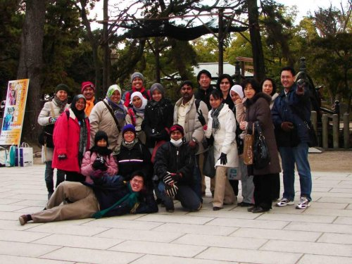 Group Photo in front of a temple