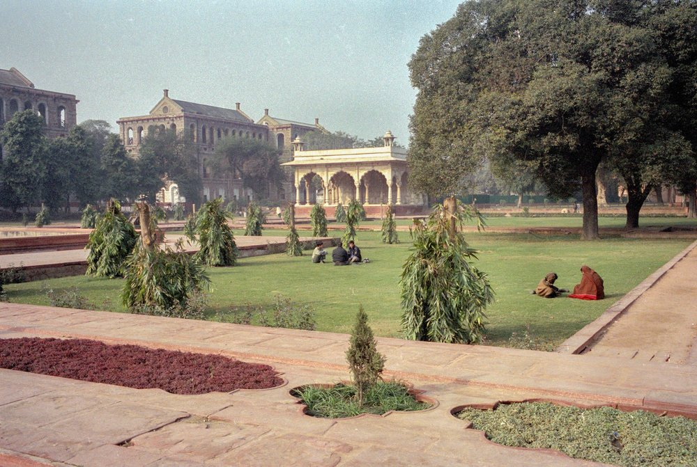 Lazing around the Red Fort. Delhi. India. 2003