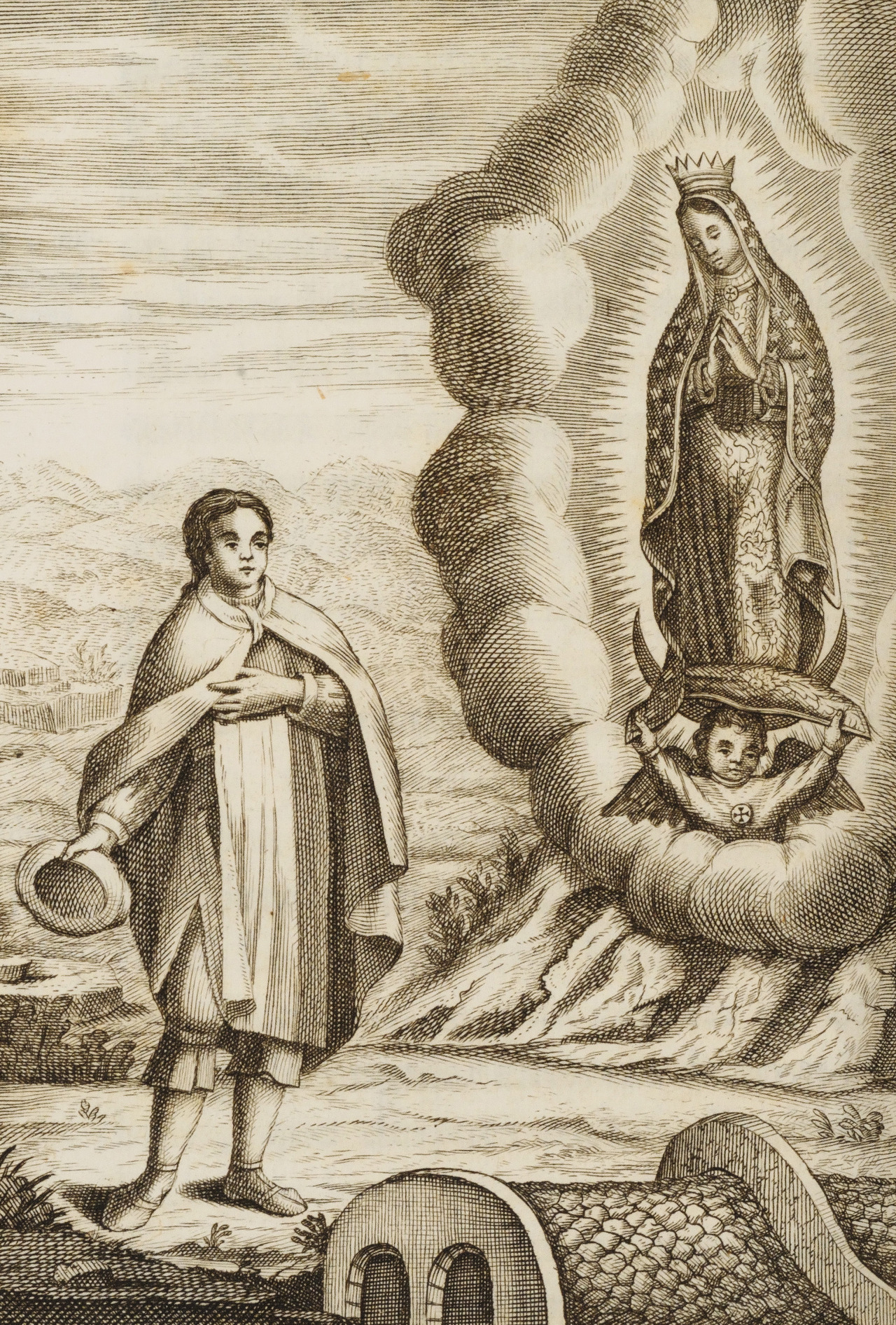 magictransistor :     Synthesis of Apparitions of the Virgin of Guadalupe to Juan Diego. La Estrella del Norte de Mexico. 1531.