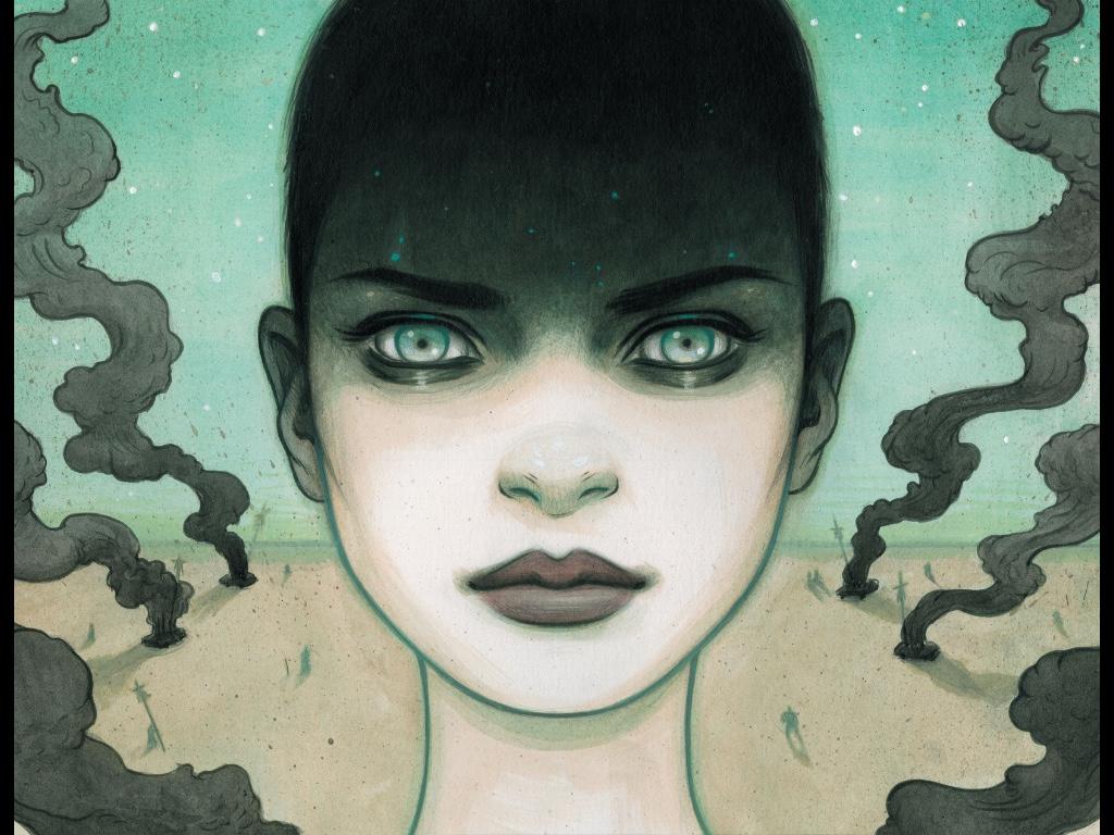 Tara McPherson's stunning Furiosa, from Mad Max: Inspired Artists Deluxe Edition  http://www.vertigocomics.com/graphic-novels/mad-max-fury-road-–-inspired-artists-deluxe-edition