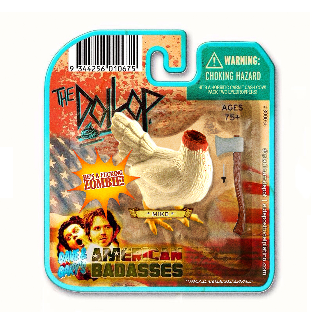 "Mike The Chicken ""action"" figure from the latest @thedollop w/ @daveanthony & @reynoldsgareth       http://thedollop.libsyn.com/73-mike-the-chicken"