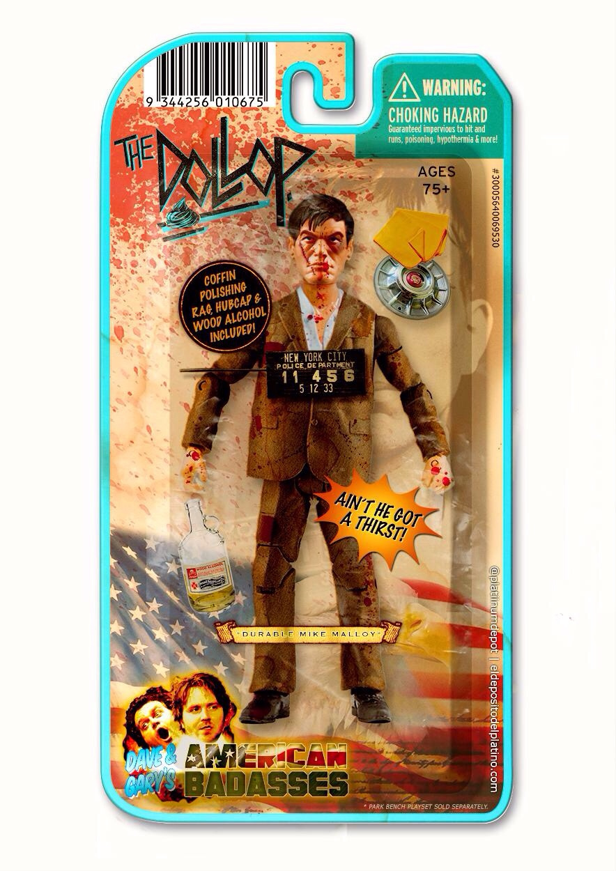 'Durable' (Iron) Mike Malloy action figure, based on this week's  the-dollop / Smollop. @reynoldsgareth  daveanthony