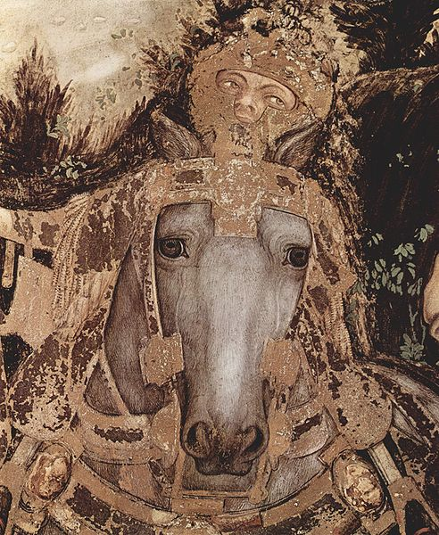 templeofapelles :     Pisanello  (c. 1395 – c. 1455)     St. George and the Princess (detail)
