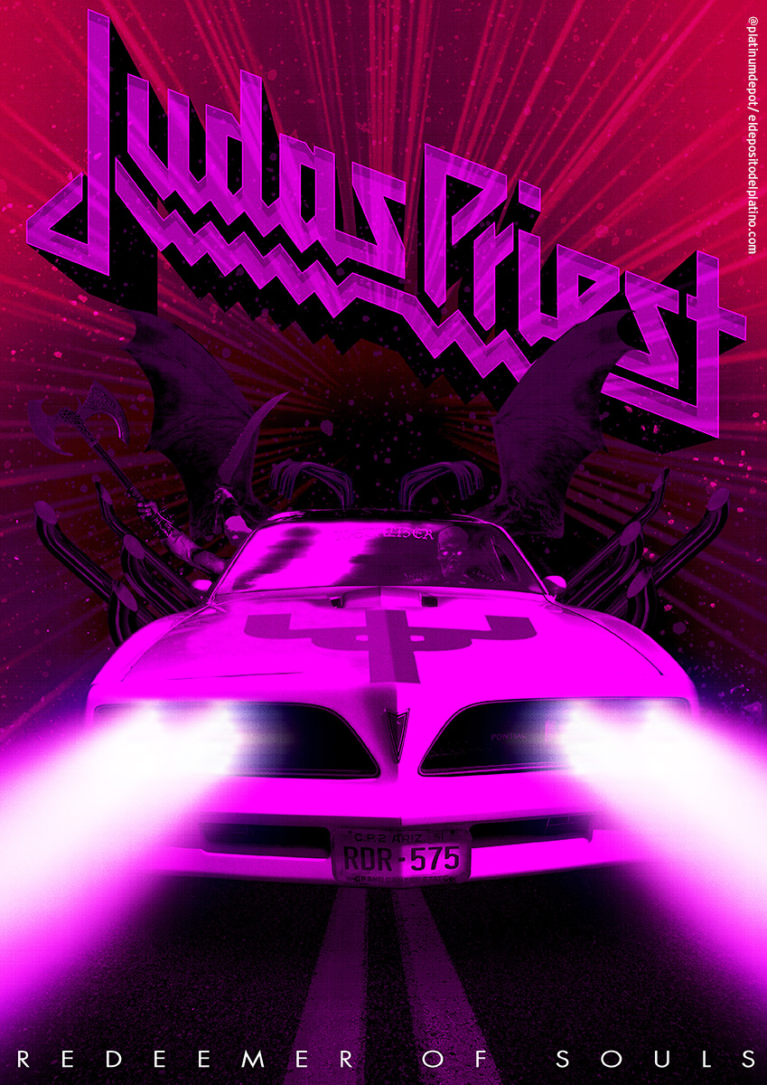The new Judas Priest album, 'Redeemer of Souls', is pretty tops, if you're into that sort of thing.   Here's a poster design inspired by its lead track:   https://www.youtube.com/watch?v=shwOv_J7QGo