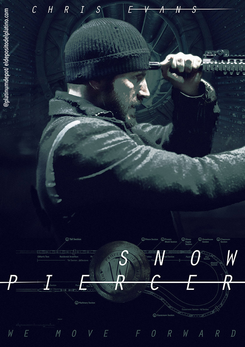 Quick SNOWPIERCER inspired poster effort. #work #design