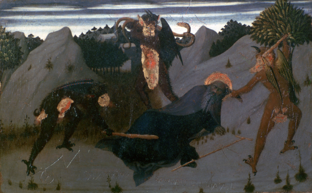 magictransistor :     Sassetta. Saint Anthony the Hermit Tortured by the Devils. 1423.