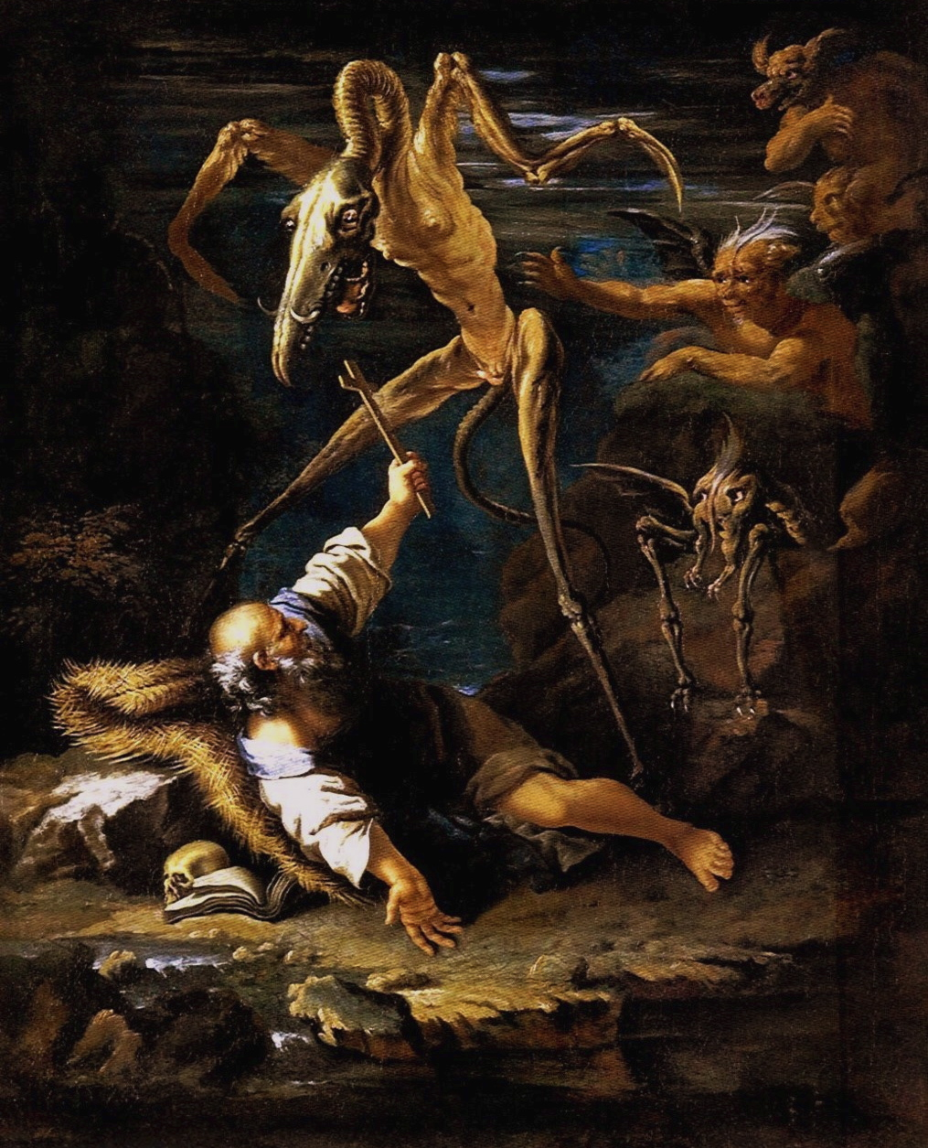 magictransistor :      Salvator Rosa.     The Temptation of St. Anthony. 1645.
