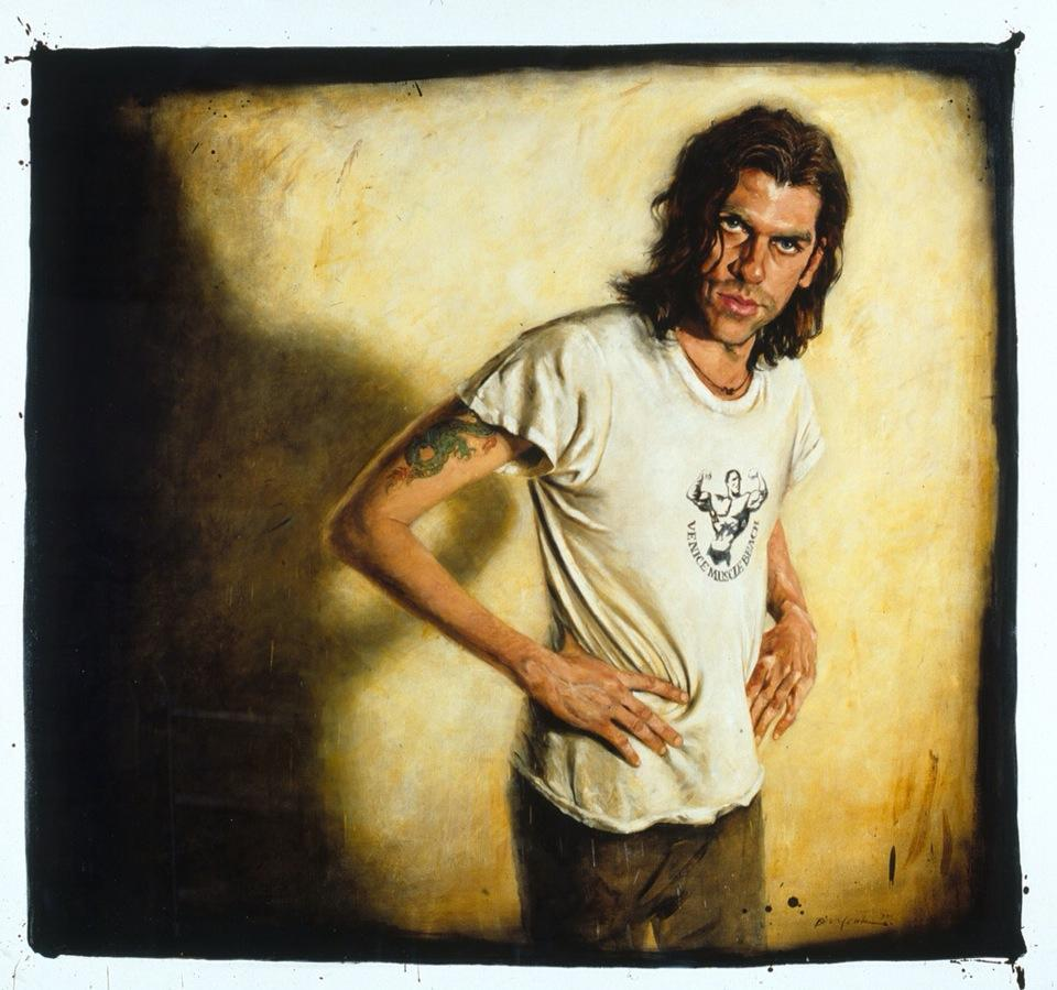 Bill Leak paints Tex Perkins, 1997.