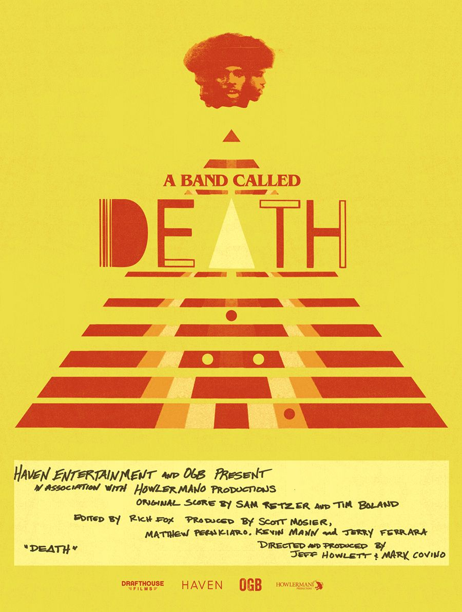 That's a pretty great Mondo poster for the @WorldWide_DEATH doco, A BAND CALLED DEATH. #work