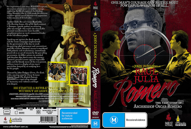 ROMERO DVD  on Flickr.  Slick for John Duigan's ROMERO, part of my soon to be critically acclaimed 'sniper scope' series.
