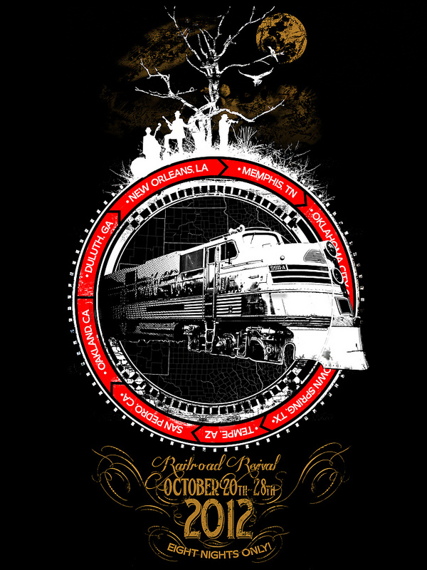 Tee design for  Red Bubble's   Railroad Revival  contest. #work