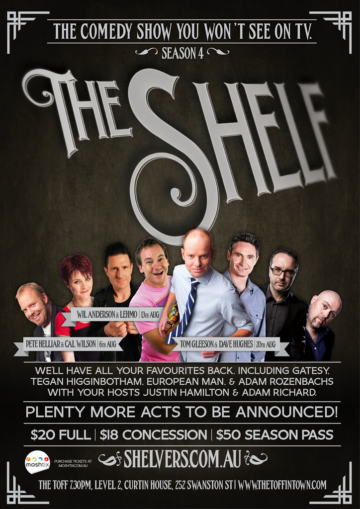 Poster for  The Shelf, Season 4.  Tickets on sale  here.