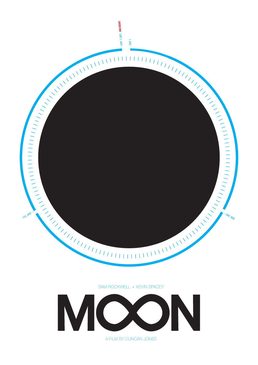 joe-stone :     Minimalist poster / timeline / infographic I drew up for Duncan Jones'  Moon , one of the best sci-fi films of the last few years.